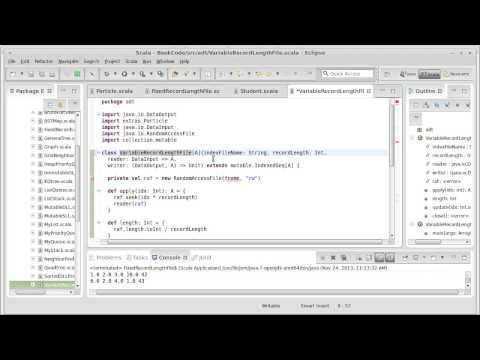 Variable Record Length Files (using Scala) - YouTube