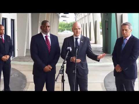 FIFA President Gianni Infantino In Bermuda, Jan 17 2018