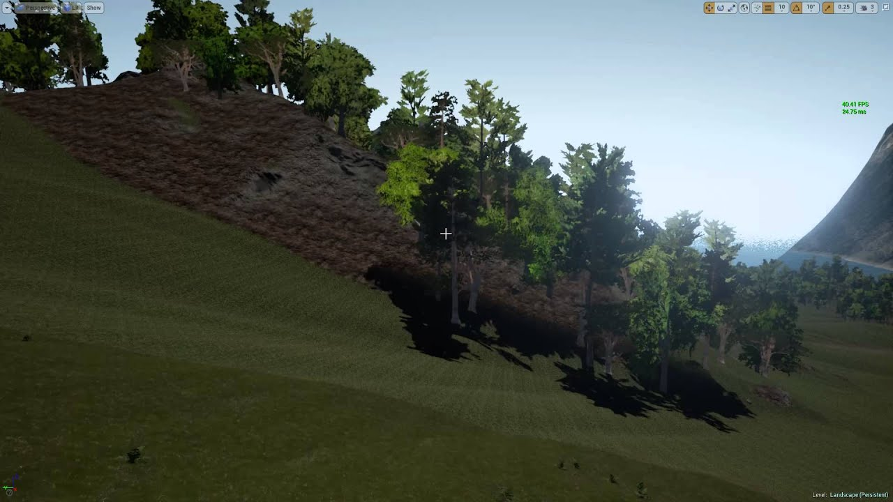Unreal Engine 4: (4 8PV) Auto Terrain Painting Using Slopes and Grass Type