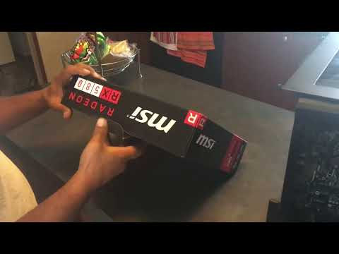 MSI RX 580 8GB Refrence Model Quick Unboxing and Install