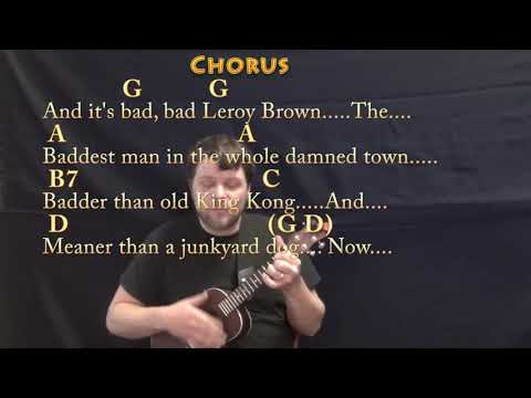 Bad Bad Leroy Brown (Jim Croce) Ukulele Cover Lesson with Chords/Lyrics