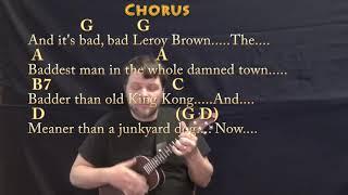 Bad Bad Leroy Brown (Jim Croce) Ukulele Cover Lesson with Chords/Lyrics