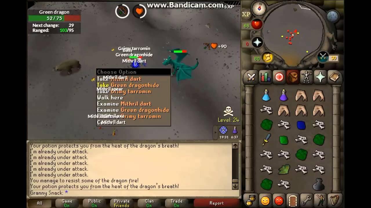 Runescape Osrs New Green Dragon Guide 900k 1100k Gp H Youtube