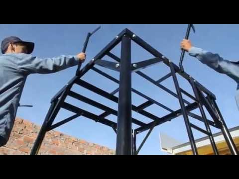 Soporte para tanque de agua desmontable youtube for Estanque de agua 10000 litros precio