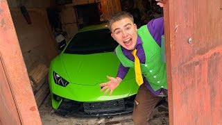 Red Man found Car on Underground Parking VS Mr. Joe lost Lamborghini Huracan Performante - 13+