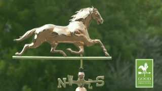 Gd580p Horse Weathervane Polished Copper