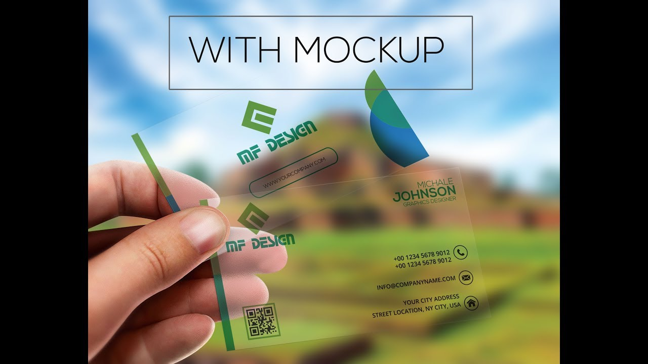 How to Create Transparent business cards with mockup ...