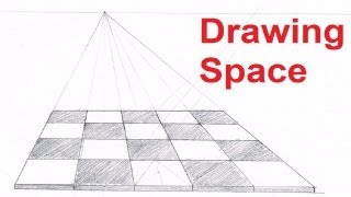 One Point Perspective Drawing Tutorials - How To Draw Space In Perspective