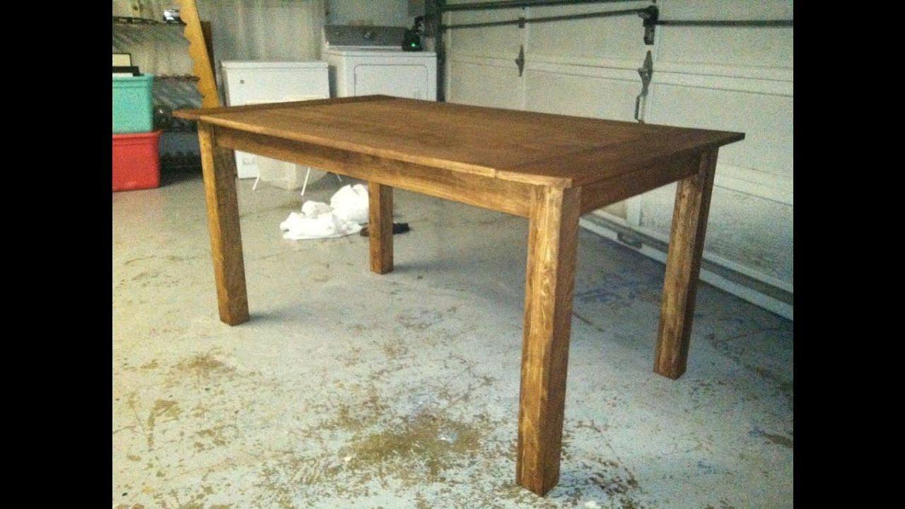 Обеденный стол своими руками из досок