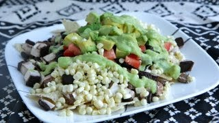 Vegan Taco Salad Nachos With Avocado Lime Dressing Recipe (8.31.12 - Day 19)