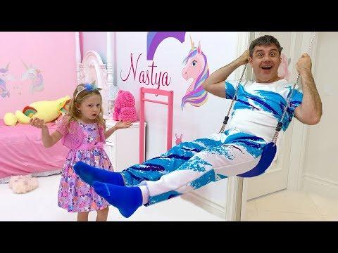 Настя и её новая комната с Единорогом
