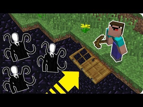 NOOB'lar VS YERDE SLENDERMAN EV - Minecraft