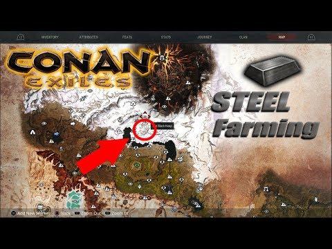 Conan Exiles - Insane Steel Farming 10 Minute Runs