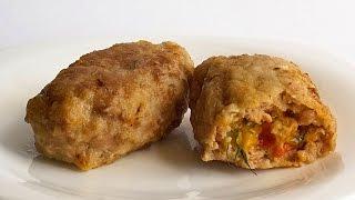 Зразы с Помидором и Сыром кулинарный видео рецепт