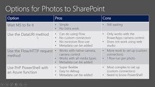 How to Save Photos from PowerApps to SharePoint via Flow