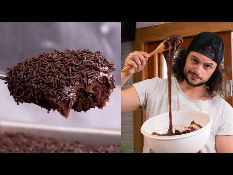 O BOLO DE CHOCOLATE MAIS BOMBADO DO   Receitas Internéticas