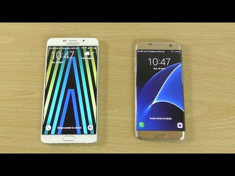 Samsung Galaxy A9 VS Galaxy S7 Edge - Speed Test!