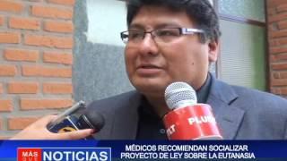 MÉDICOS RECOMIENDAN SOCIALIZAR  PROYECTO DE LEY SOBRE LA EUTANASIA