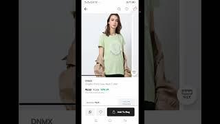 ajio🔥# branded women T-shirts olny 88 rs  @alppy coupon code.#sadvi  talks# screenshot 3
