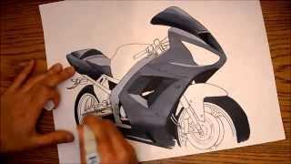 Kawasaki Ninja ZX6R Drawing