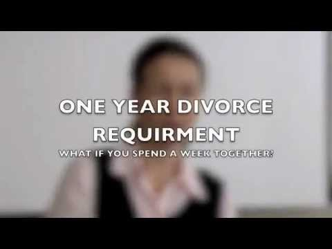 The One Year Requirement to get the Divorce