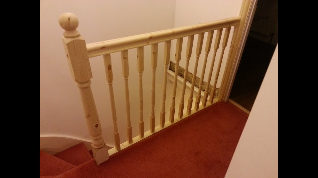How To Replace Banister, Newel Post Handrail And Spindles On A Staircase    YouTube