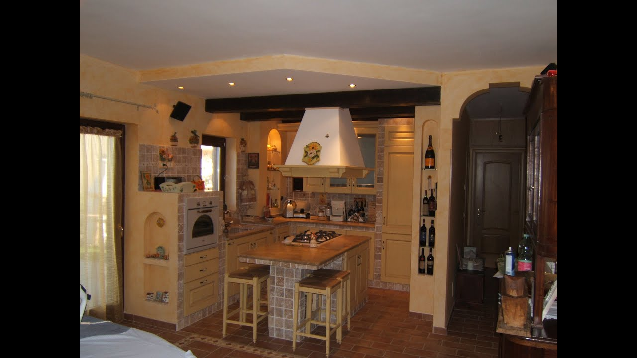 La cucina in muratura masonry kitchens youtube - Cucine per taverna ...