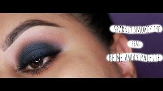 sparkly smokey eye feat blue me away palette