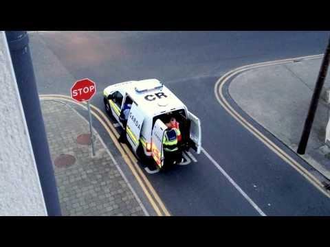 Irish Garda In Action