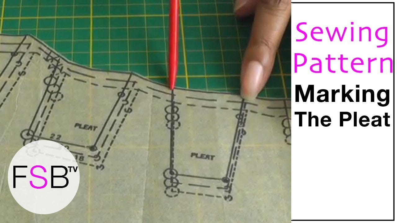 Sewing Pattern Symbols Pleats Youtube