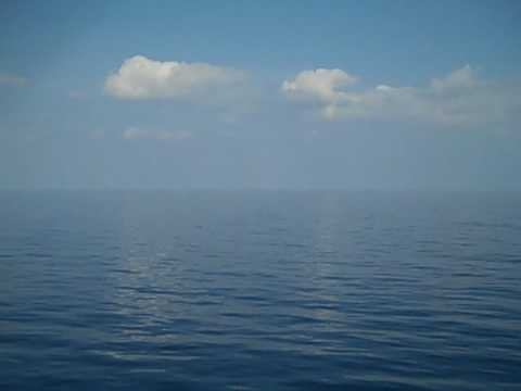 Calm seas and skies on the Mediterranean