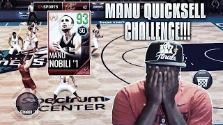 93 OVR LEGEND MANU GINOBILI QUICK SELL CHALLENGE!!! NBA LIVE MOBILE 18