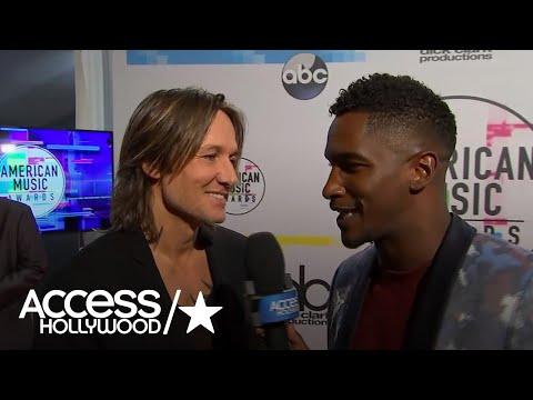 Keith Urban On Handing Off Some Of His Awards To Nicole Kidman At The 2017 AMAs | Access Hollywood