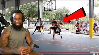 Hooper HOOPER Gets TACKLED By Trash Talkers! 5v5 Basketball