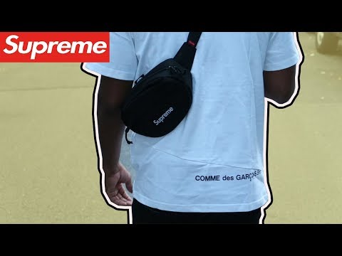SUPREME FW18 Waist Bag On-Body | REVIEW - YouTube