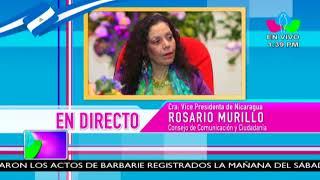 Comunicación con la Vicepresidenta Compañera Rosario Murillo, 18 de Junio de 2018