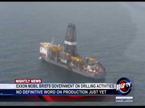 exxon mobil briefs government on drilling activities