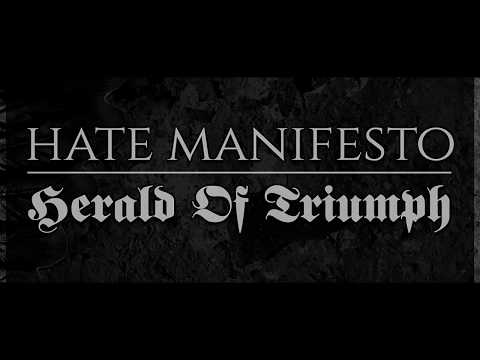 "Hate Manifesto ""Herald Of Triumph"" (lyric video)"