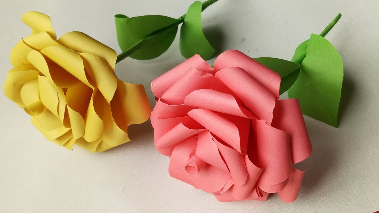 How to Make Very Easy and Simple Paper Rose!! Rosen aus ... | 720x1280