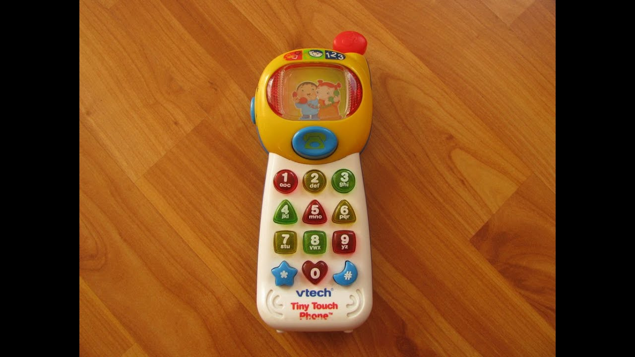 vtech tiny touch phone - great baby activity toy with 3 modes of play