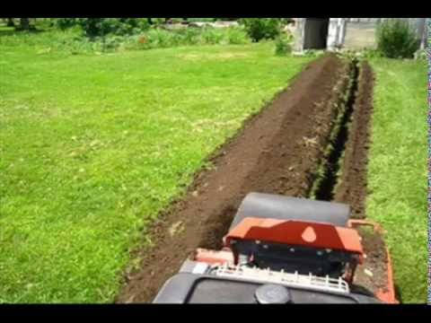 Off Grid Project:   Trenching for Underground Power Cables