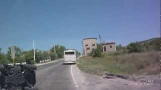 Video A Very Close Call - Bus Hits ATV on Road download MP3, 3GP, MP4, WEBM, AVI, FLV Desember 2017