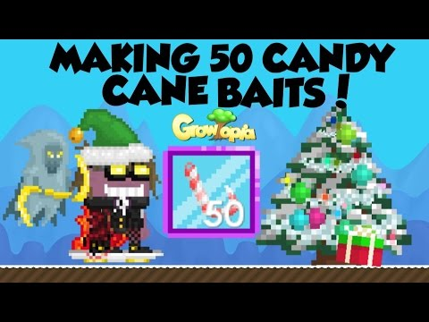 Growtopia Making 50 Candy Cane Baits Youtube