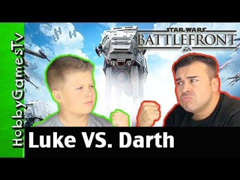Star Wars Battlefront Luke Skywalker VS Darth Vader Battle Mode PS4 Gameplay By HobbyGamesTV!