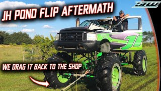 JH Diesel Flipped His MegaTruck Into Cleetus' Pond...What Happened After That? (We Made It Worse)