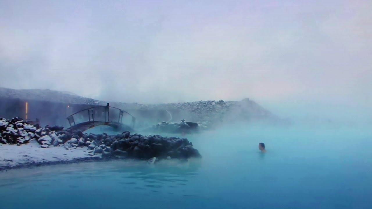 blue lagoon iceland on a winterday youtube