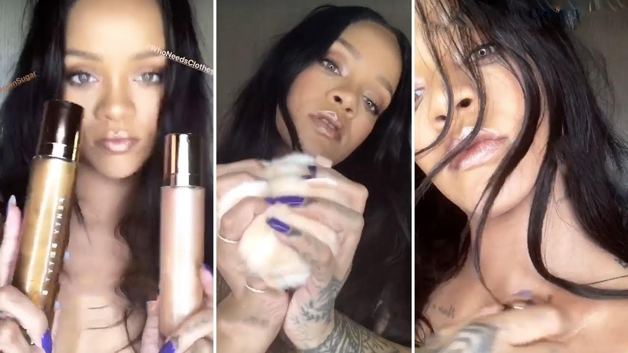 Rihanna My Favourite Makeup Products Unboxing Video By Rihanna Full