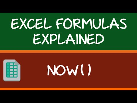 NOW Formula in Excel
