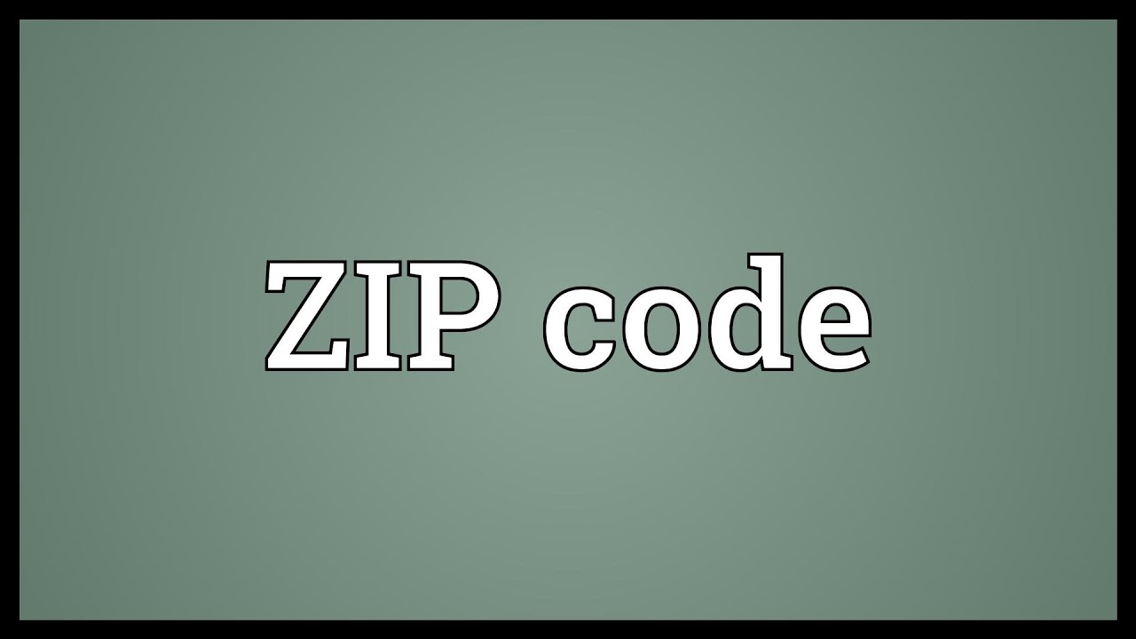 ZIP Code Meaning YouTube - Us zip code checker