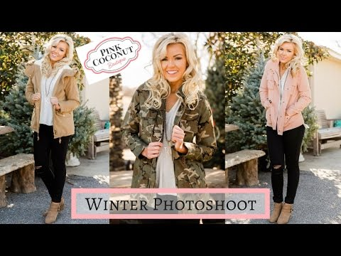 Winter Photoshoot & Fashion | Pink Coconut Boutique